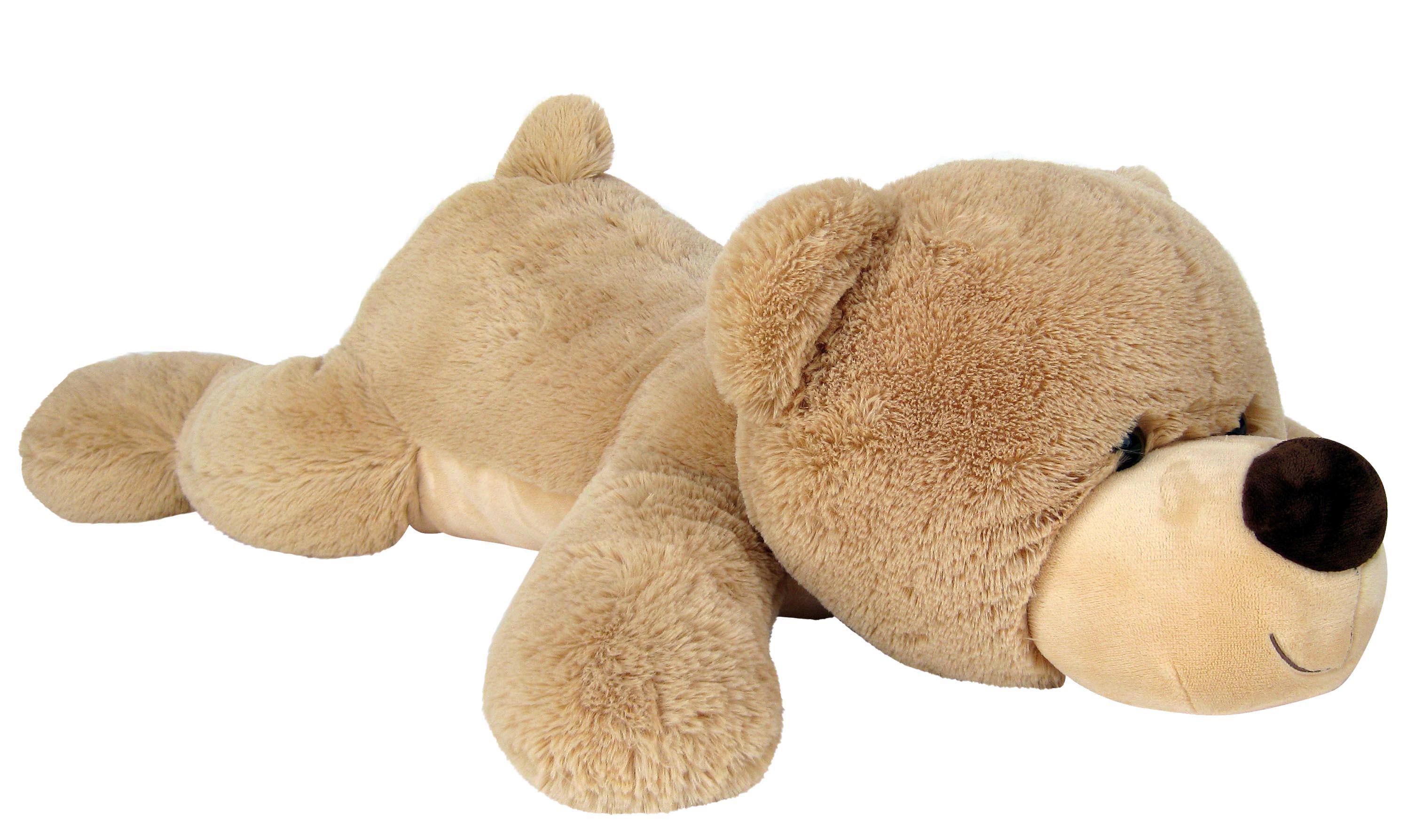 xxl riesen teddyb r 140 cm gro beige liegend kuschelqualit t vom feinsten. Black Bedroom Furniture Sets. Home Design Ideas